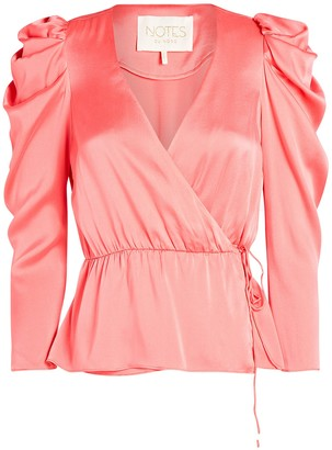 Notes Du Nord Olena Silk Wrap Top
