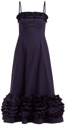 Molly Goddard Susie Ruffled Cotton Dress - Womens - Navy