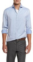 Brunello Cucinelli Slim-Fit Woven Sport Shirt, Blue