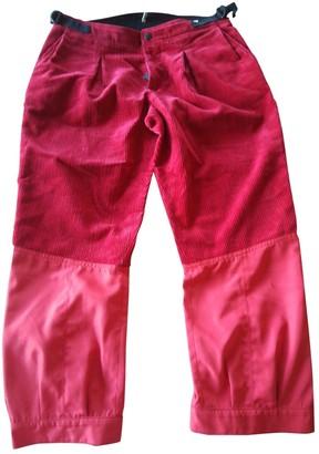 Moncler Red Velvet Trousers
