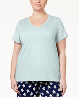Hue Plus Size V-Neck Sleep T-Shirt