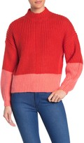 Elodie K Colorblock Mock Neck Sweater