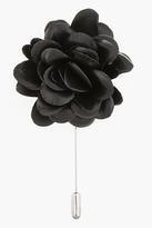 Lanvin Black leather rose tie pin