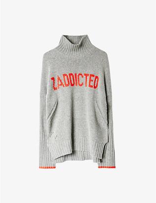 """Zadig & Voltaire Alma """"zaddicted"""" merino wool turtleneck jumper"""