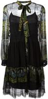 Alberta Ferretti floral print sheer dress - women - Silk/Polyamide/Rayon - 40