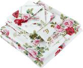 Cath Kidston Antique Rose Bouquet Towel - White - Wash Mitt