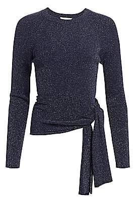 3.1 Phillip Lim Women's Lurex Rib-Knit Side-Tie Sweater
