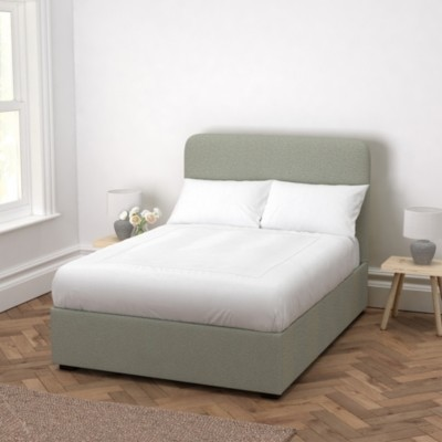 The White Company Melbury Wool Bed, Light Grey Wool, Super King