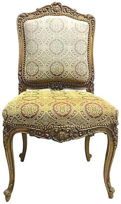 One Kings Lane Vintage Acanthus Leaf & Medallion Slipper Chair - Vermilion Designs