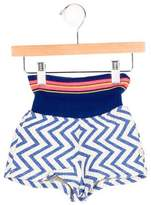 Billieblush Girls' Zigzag Quilted Shorts