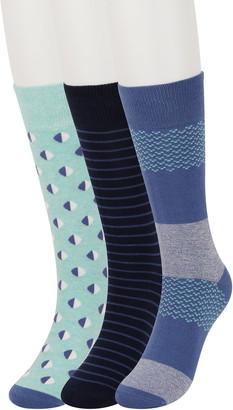 Original Penguin Mixed Stripe Crew Socks - Pack of 3