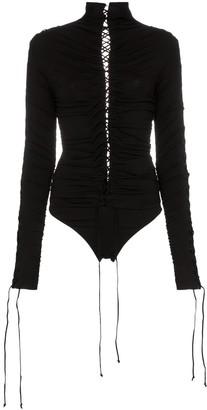 Unravel Project lace-up bodysuit