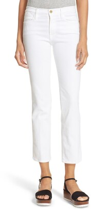 Frame 'Le High Straight' High Rise Crop Jeans