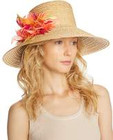 Eugenia Kim Annabelle Feather Detail Straw Sun Hat