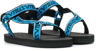 Stella McCartney Kids Logo Touch Strap Sandals