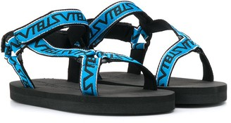 Stella McCartney logo touch strap sandals