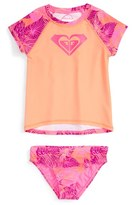Roxy Girl's 'Valencia Beach' Two-Piece Rashguard Swimsuit