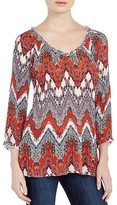 Milano Pleated Paisley Top
