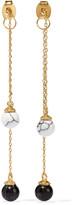 Noir Gold-tone and resin earrings