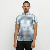 Kenneth Cole New York Gingham Print Button-Front Shirt
