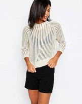 Only Chunky Knit Cropped Sweater