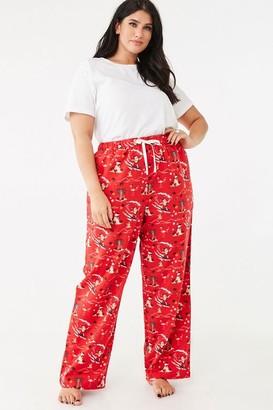 Forever 21 Plus Size Santa Pajama Pants