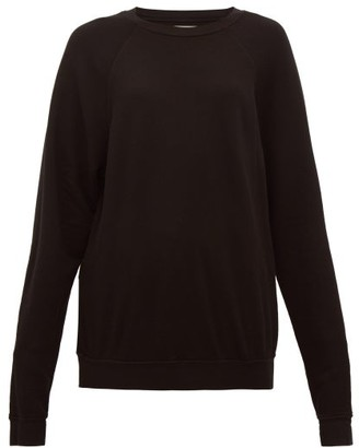 LES TIEN Cotton-jersey Sweatshirt - Black