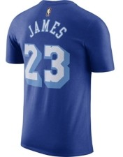 Nike Los Angeles Lakers Lebron James Men's Hardwood Court Player T-Shirt