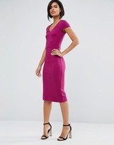 French Connection Lula Stretch Midi Dress