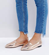 Asos LEES Wide Fit Pointed Loafers