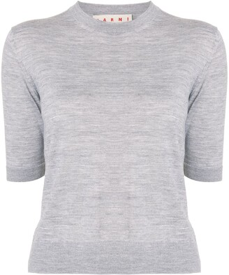 Marni Side-Stripe Knitted Top