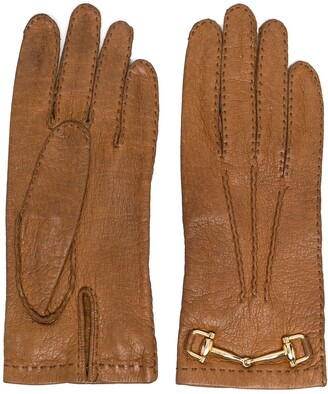Céline Pre-Owned 1970s Pre-Owned Horsebit-Detail Gloves