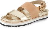 Etienne Aigner Annie Leather Slingback Sandal, Pale Gold/Natural