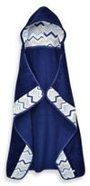 Just Born Just Bath by Chevron Hooded Bath Towel Wrap in Navy/White