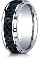 Ice Cobalt 8mm Comfort-Fit Carbon Fiber Inlay Design Ring