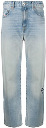 Diesel High-Rise Straight Leg Jeans