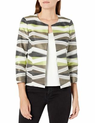 Kasper Women's Open Front Jacquard Jacket
