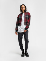 DKNY Rose Plaid Bomber Jacket