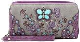 Blancho Bedding Womens [Gemstone Butterfly HB-S] PU Leather Handbag Fashion Elegant Tote Bag Purple