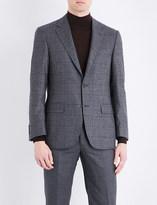Canali Regular-fit windowpane check wool jacket