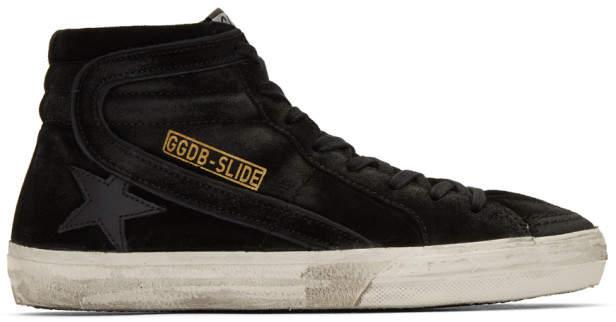 Golden Goose Black Slide High-Top Sneakers