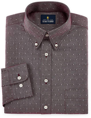Stafford Mens Wrinkle Free Button Down Collar Oxford Big and Tall Dress Shirt