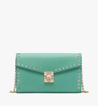 MCM Patricia Crossbody Wallet in Studded Park Ave Leather