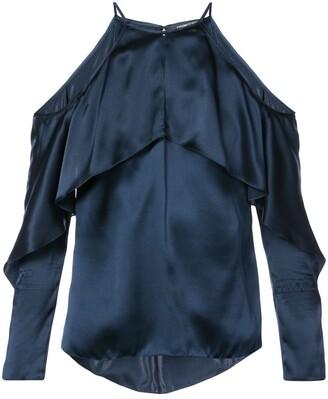 Cushnie Florence cold-shoulder blouse
