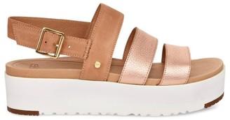 UGG Braelynn Suede & Leather Flatform Sandals
