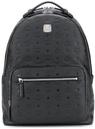 MCM Embossed Monogram Backpack