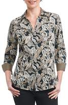 Foxcroft Women's Taylor Heritage Paisley Wrinkle Free Shirt