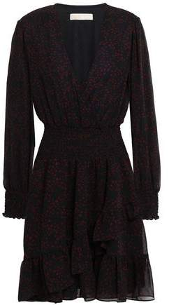 MICHAEL Michael Kors Wrap-effect Chiffon Mini Dress