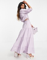 Thumbnail for your product : And other stories & ecovero co-ord tiered midi skirt in lilac
