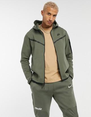Nike Tech Fleece full-zip hoodie in khaki